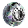 SilveRado Rainbows End Murano Glass Bead, Murano Glass Bead, SilveRado