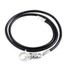 SilveRado Black Leather Necklace 52cm, Leather, SilveRado