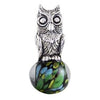 SilveRado Wise Owl Sterling Silver Large Murano Glass Charm, SS Large Murano Glass Charm, SilveRado