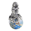 SilveRado Mystic Mermaid Sterling Silver Large Murano Glass Charm, SS Large Murano Glass Charm, SilveRado