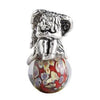SilveRado Earth Angel Sterling Silver Large Murano Glass Charm, SS Large Murano Glass Charm, SilveRado