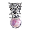 SilveRado Fantasy Fairy Sterling Silver Large Murano Glass Charm, SS Large Murano Glass Charm, SilveRado