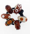SilveRado Caramel Amber Murano Glass Bundle, Murano Glass Bundle, SilveRado