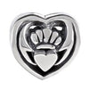 SilveRado Celtic Claddagh Sterling Silver Celtic Collection Charm, SS Celtic Collection Charm, SilveRado