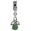 SilveRado Celtic B-Stone May EM Sterling Silver Celtic Collection Birth Stone Charm, SS Celtic Collection Birth Stone Charm, SilveRado
