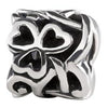 SilveRado Triple Heart twist Sterling Silver Celtic Charm, SS Celtic Charm, SilveRado