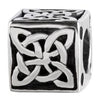 SilveRado Celtic Cube Sterling Silver Celtic Collection Charm, SS Celtic Collection Charm, SilveRado