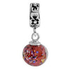 SilveRado Flash Dancing Murano Glass Dangle, Murano Glass Dangle, SilveRado