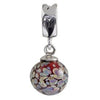 SilveRado Sleeping Beauty Murano Glass Dangle, Murano Glass Dangle, SilveRado