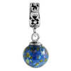 SilveRado Ocean Blue Murano Glass Dangle, Murano Glass Dangle, SilveRado