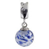 SilveRado Spring Water Murano Glass Dangle, Murano Glass Dangle, SilveRado