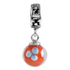 SilveRado Fire Lilly Murano Glass Dangle, Murano Glass Dangle, SilveRado