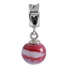 SilveRado Scarlet Rapture Murano Glass Dangle, Murano Glass Dangle, SilveRado