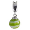 SilveRado Apple Swirl Murano Glass Dangle, Murano Glass Dangle, SilveRado