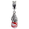 SilveRado Peaceful Buddha Murano Glass Dangle, Murano Glass Dangle, SilveRado