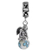 SilveRado Wind Song Fairy Murano Glass Dangle, Murano Glass Dangle, SilveRado