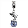 SilveRado Wave Rider Murano Glass Dangle, Murano Glass Dangle, SilveRado