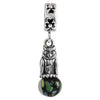 SilveRado Wise Little Owl Murano Glass Dangle, Murano Glass Dangle, SilveRado