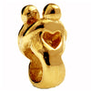 SilveRado Lovers 14kt Gold Charm