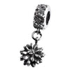SilveRado Flower dangle Sterling Silver Dangle Charm, SS Dangle Charm, SilveRado