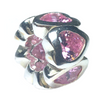 Channel Heart 6 Pink Spinel Natural Sterling Silver Gemstone Charm