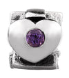 SilveRado Faith Hope and Charity - Amethyst Sterling Silver Gemstone Charm, SS Gemstone Charm, SilveRado