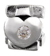 SilveRado Faith Hope and Charity - Cubic Zirconia Sterling Silver Gemstone Charm, SS Gemstone Charm, SilveRado
