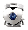 SilveRado Faith Hope and Charity - Blue Sapphire Sterling Silver Gemstone Charm, SS Gemstone Charm, SilveRado