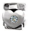 SilveRado Faith Hope and Charity - Blue Topaz Sterling Silver Gemstone Charm, SS Gemstone Charm, SilveRado