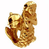 SilveRado Gold Mermaid and dolphin 14kt Gold Charm, 14kt Gold Charm, SilveRado