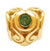 SilveRado Gold Heart - Emerald 14kt Gold Birthstone Charm