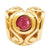 SilveRado Gold Heart - Ruby 14kt Gold Birthstone Charm