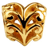 SilveRado Growing Heart 14kt Gold Charm