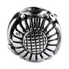 SilveRado Flower Focal No3 Sterling Silver Focal Bead, SS Focal Bead, SilveRado