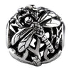 SilveRado Dragonfly Focal No2 Sterling Silver Focal Bead, SS Focal Bead, SilveRado