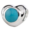 SilveRado Turquoise Heart Sterling Silver Gemstone Charm