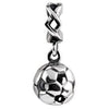 SilveRado Soccer ball Dangle Sterling Silver Dangle Charm, SS Dangle Charm, SilveRado