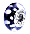 SilveRado Lunar Eclipse Murano Glass Bead, Murano Glass Bead, SilveRado