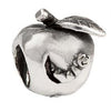 SilveRado Worm In Apple Sterling Silver Charm, SS Charm, SilveRado
