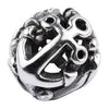 SilveRado Ship Wheel Anchor Sterling Silver Small Focal Charm, SS Small Focal Charm, SilveRado