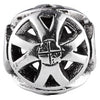 SilveRado Mag Wheel No5 Sterling Silver Large Focal Charm, SS Large Focal Charm, SilveRado