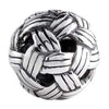 SilveRado Woven Ball Sterling Silver Small Focal Charm, SS Small Focal Charm, SilveRado