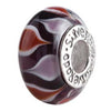 SilveRado Two Hearts Collide Murano Glass Bead, Murano Glass Bead, SilveRado