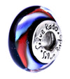 SilveRado Night Rhythm Murano Glass Bead, Murano Glass Bead, SilveRado