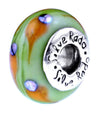 SilveRado Cosmic Shower Murano Glass Bead, Murano Glass Bead, SilveRado