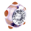 SilveRado Tickled Pink Murano Glass Bead, Murano Glass Bead, SilveRado