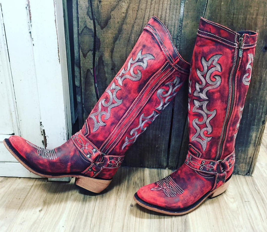 Liberty Black Vintage Rojo Cowgirl Boot