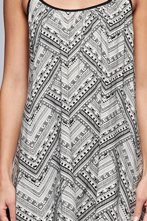 Floral Aztec Dress With Racer Back