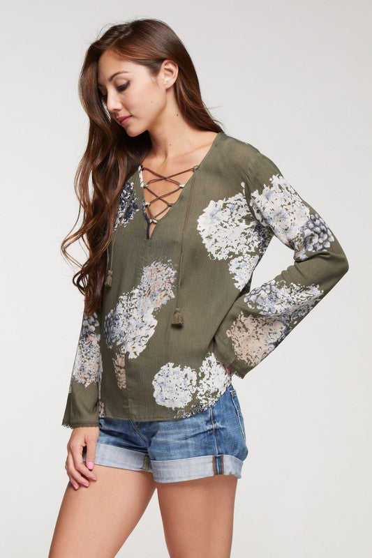 Fall Peonies Floral Top