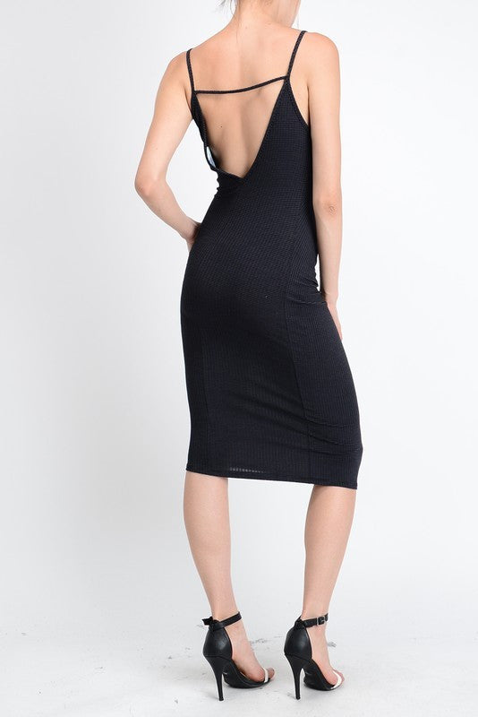 Deep V Body Contour Dress